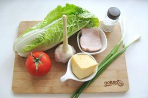 Салат с пекинской капустой и копченой курицей - фото шаг 1