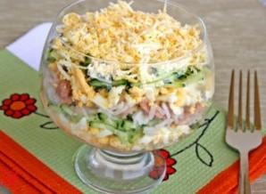 Салат с печенью трески и рисом - фото шаг 6