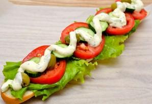 Бутерброды с багетом - фото шаг 5