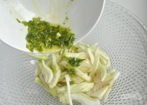 Салат с фенхелем, макаронами и грушей - фото шаг 4