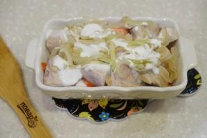 Индейка с овощами в духовке - фото шаг 7