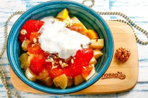 Фруктовый салат с йогуртом - фото шаг 4