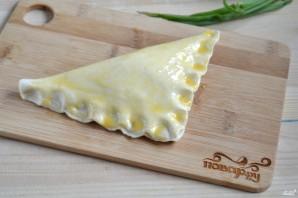Хачапури с сыром из слоеного теста - фото шаг 5
