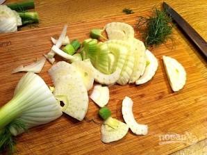 Лосось с салатом - фото шаг 7