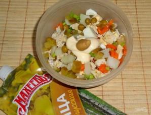 """Салат """"Оливье"""" с куриным филе и горчицей - фото шаг 5"""