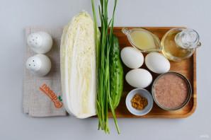 Салат из пекинской капусты с тунцом - фото шаг 1