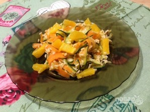 Рис с морковкой, цуккини и апельсином - фото шаг 9