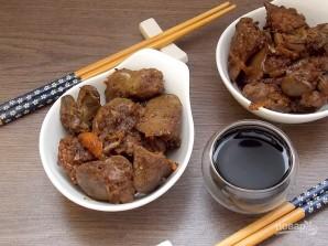 Куриная печень по-азиатски - фото шаг 7