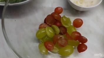 Вкусный салат с виноградом, мясом и рукколой в восточном стиле - фото шаг 2