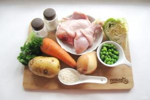 Куриный суп с зеленью - фото шаг 1