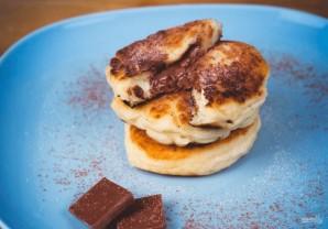 Творожные оладьи с шоколадом - фото шаг 4