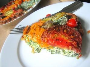 Пирог с рикоттой и помидорами - фото шаг 4
