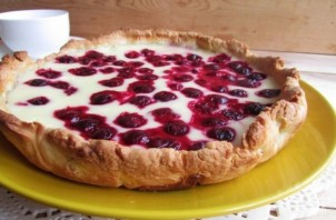 Вишневый пирог с заливкой - фото шаг 13