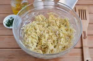 Дранички с ветчиной, сыром и зеленью - фото шаг 4