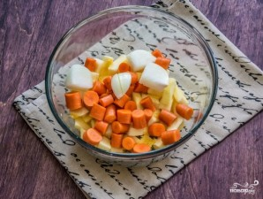 Пюре из тыквы и моркови - фото шаг 3