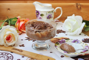 Шоколадный мусс из манки - фото шаг 9