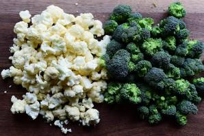 Запеканка из брокколи и цветной капусты - фото шаг 1
