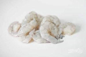 Жареная лапша с курицей и креветками - фото шаг 2