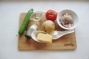 Салат с курицей и картофельной соломкой - фото шаг 1