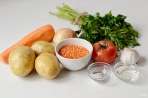 Тушеный картофель с чечевицей - фото шаг 1