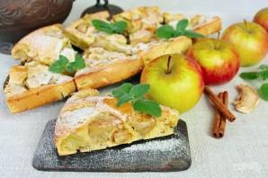 Шарлотка с пряными яблоками и семечками - фото шаг 10