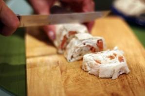 Рулетики из плавленого сыра - фото шаг 3