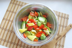 Салат из зеленых помидоров по-грузински - фото шаг 3
