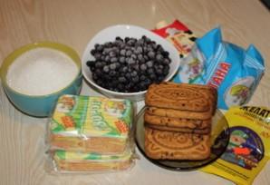 Черничный торт без выпечки - фото шаг 1