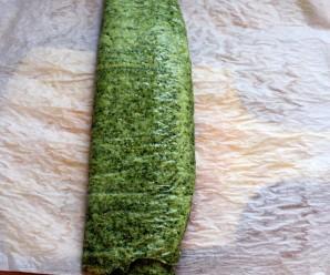 Зеленый рулет на белках - фото шаг 4
