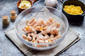 Салат с красной фасолью и ветчиной - фото шаг 3