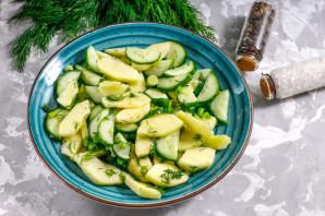Салат с утиной печенью - фото шаг 6