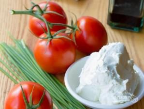 Закуска из помидоров с сыром - фото шаг 1