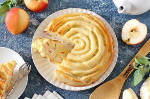 Низкоуглеводная шарлотка с яблоками - фото шаг 10
