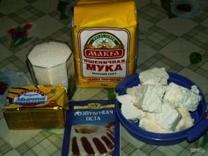 Творожные конвертики с сахаром - фото шаг 1