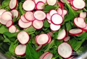 Салат с рукколой и редисом - фото шаг 2