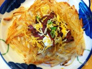 Картофельные оладьи с беконом - фото шаг 4