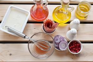 Салат с персиками - фото шаг 2