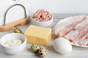 Мясные кексы с перепелиными яйцами - фото шаг 1
