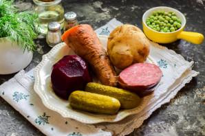 Винегрет с колбасой - фото шаг 1