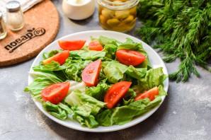 Салат с тунцом и фетой - фото шаг 3