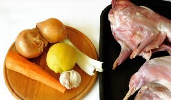 Кролик в духовке в фольге - фото шаг 1