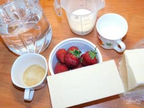 Муссовый десерт на белом шоколаде с клубникой - фото шаг 1