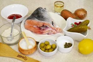Рыбная солянка из форели - фото шаг 1