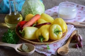 Болгарский перец, фаршированный капустой - фото шаг 1