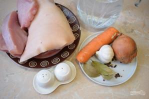 Холодец из свиных ножек и индейки - фото шаг 1