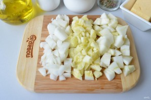 Лодочки из кабачков с яблоками - фото шаг 3