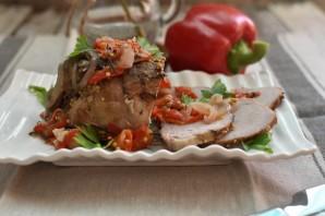 Сочная свинина в фольге с луком и сладким перцем - фото шаг 6