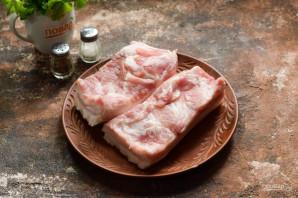 Соленое сало с красным перцем - фото шаг 2