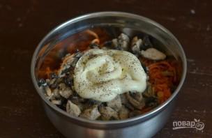 Салат из корейской моркови с курицей - фото шаг 5
