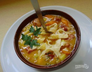 Фасолевый суп с домашней лапшой - фото шаг 12
